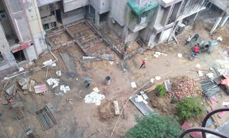 The illegal construction racket is being run by housing societies, corrupt bureaucrats, and dishonest politicians in connivance with the builders' mafia. Photo: Rakesh Raman / RMN News Service
