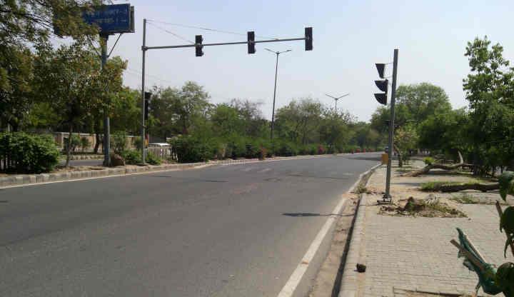 A road in New Delhi during the coronavirus lockdown in India. Photo: Rakesh Raman / RMN News Service